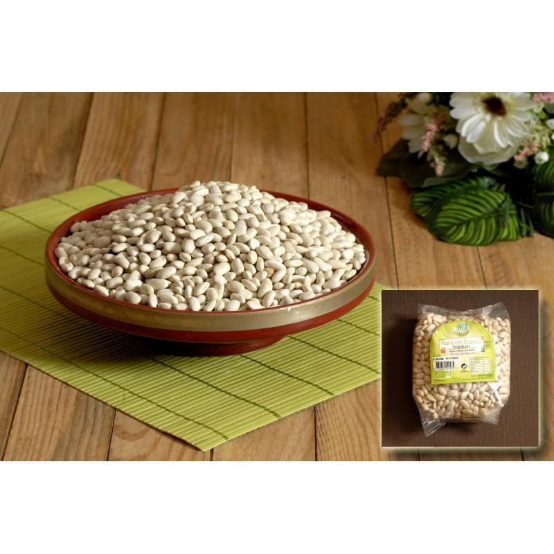 Haricot sec blanc cultivé dans le maïs