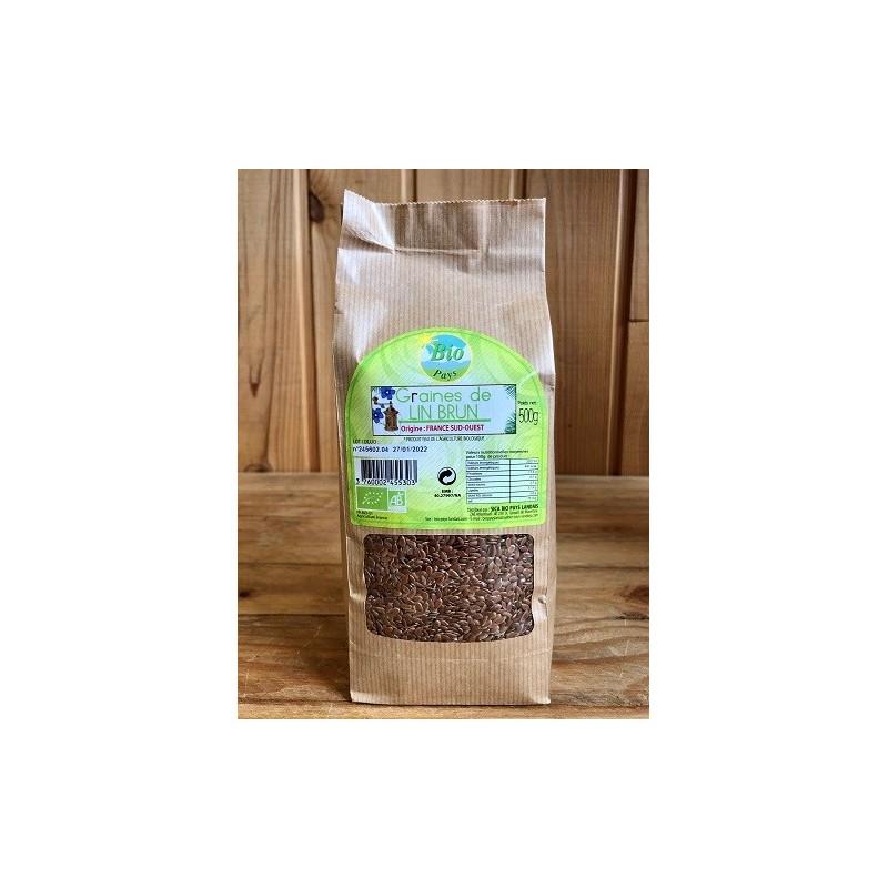 Graines de lin brun (500g)