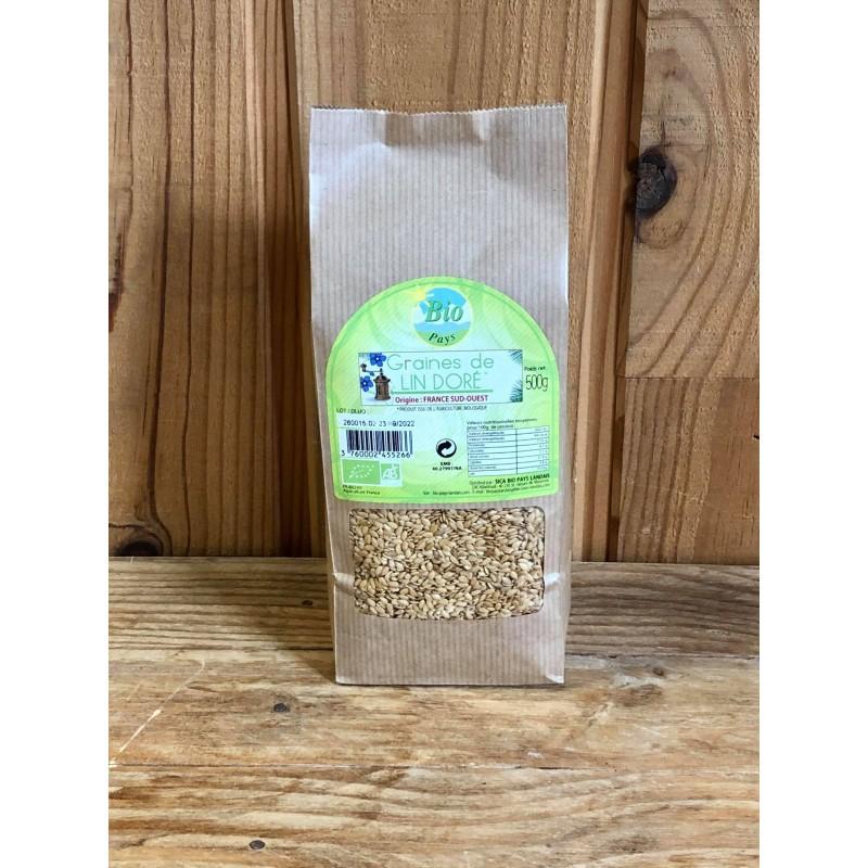 Graines de Lin doré (500 g)